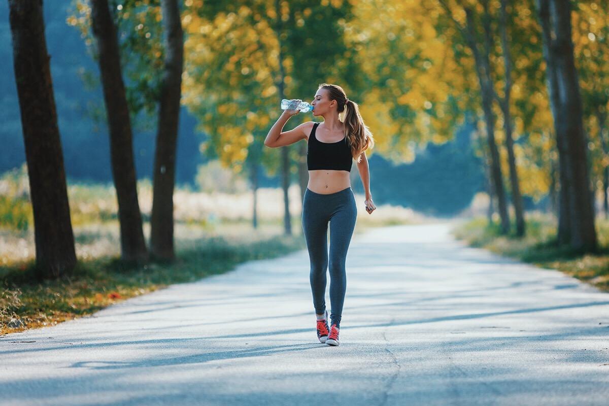 giảm mỡ toàn thân - đi bộ