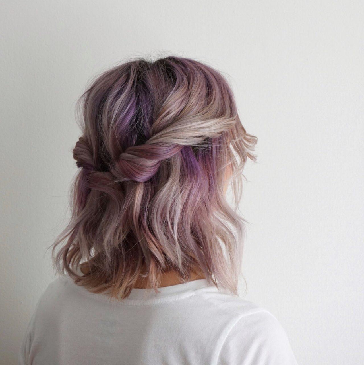 Búi tóc ngắn nửa xoắn