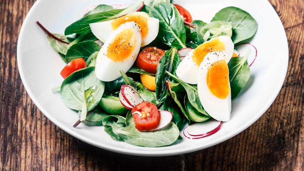 thực đơn ăn kiêng giảm cân an toàn  với trứng gà