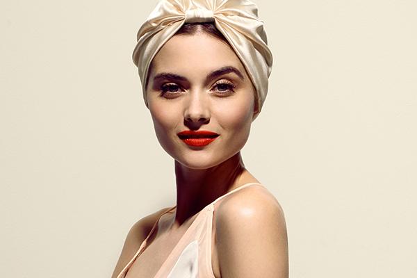 Khăn quấn tóc Slip Pure Silk Turban