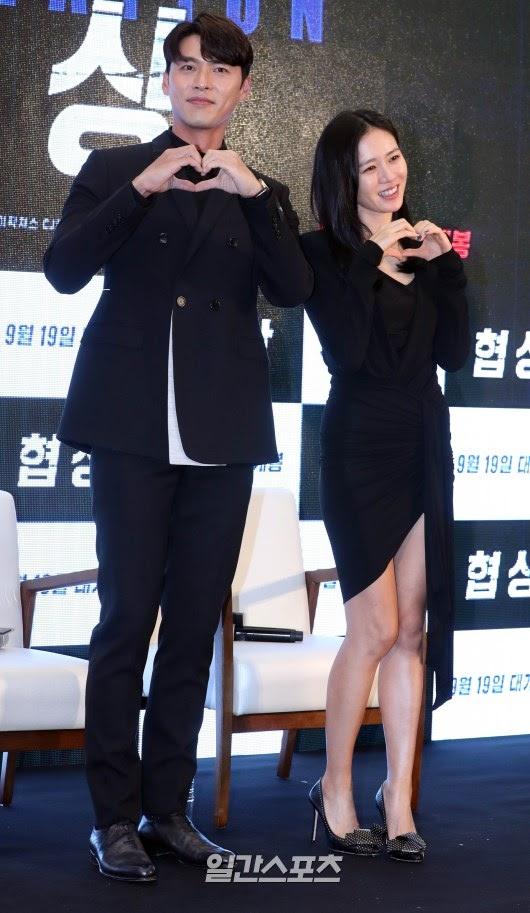 hyun bin và son ye jin mặc đồ đôi màu đen