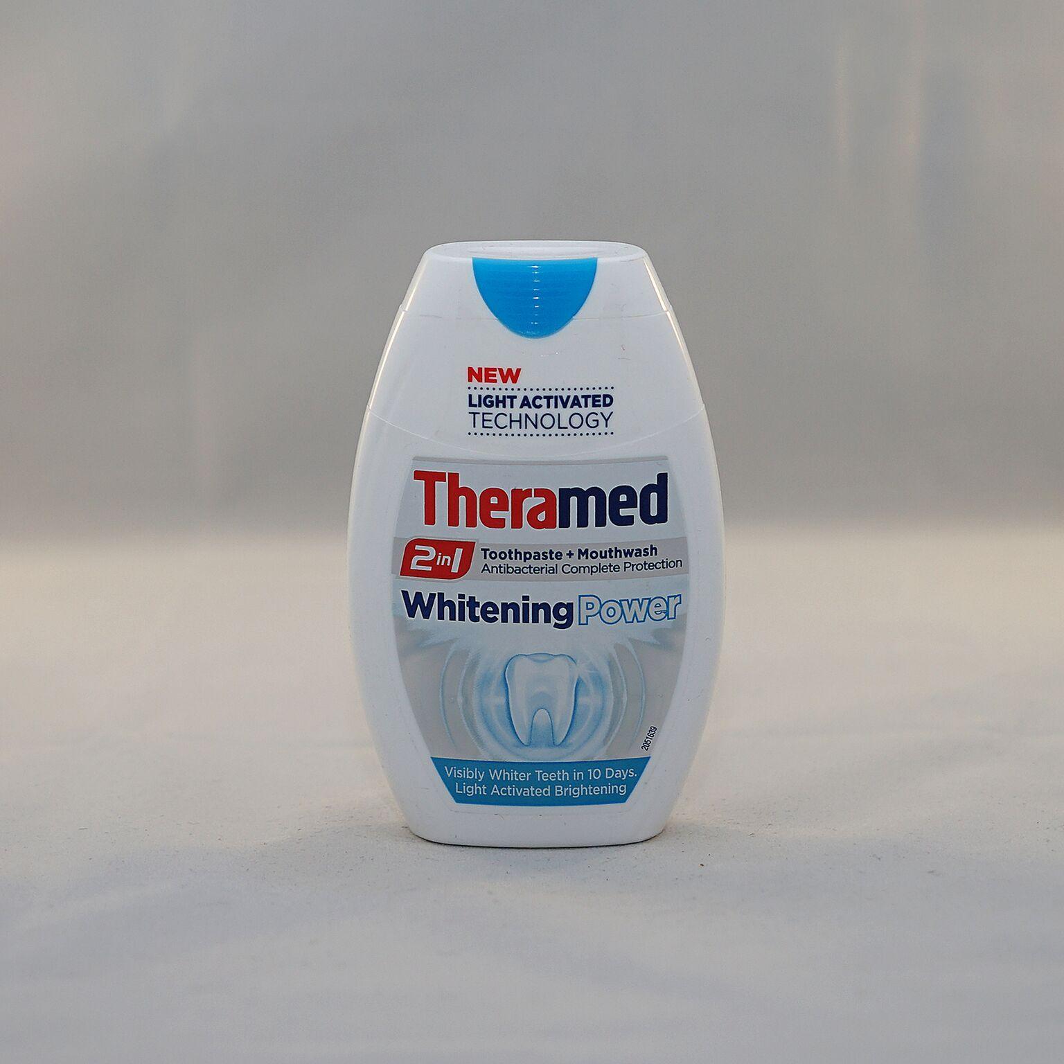 Kem đánh răng và nước súc miệng 2in1 Theramed
