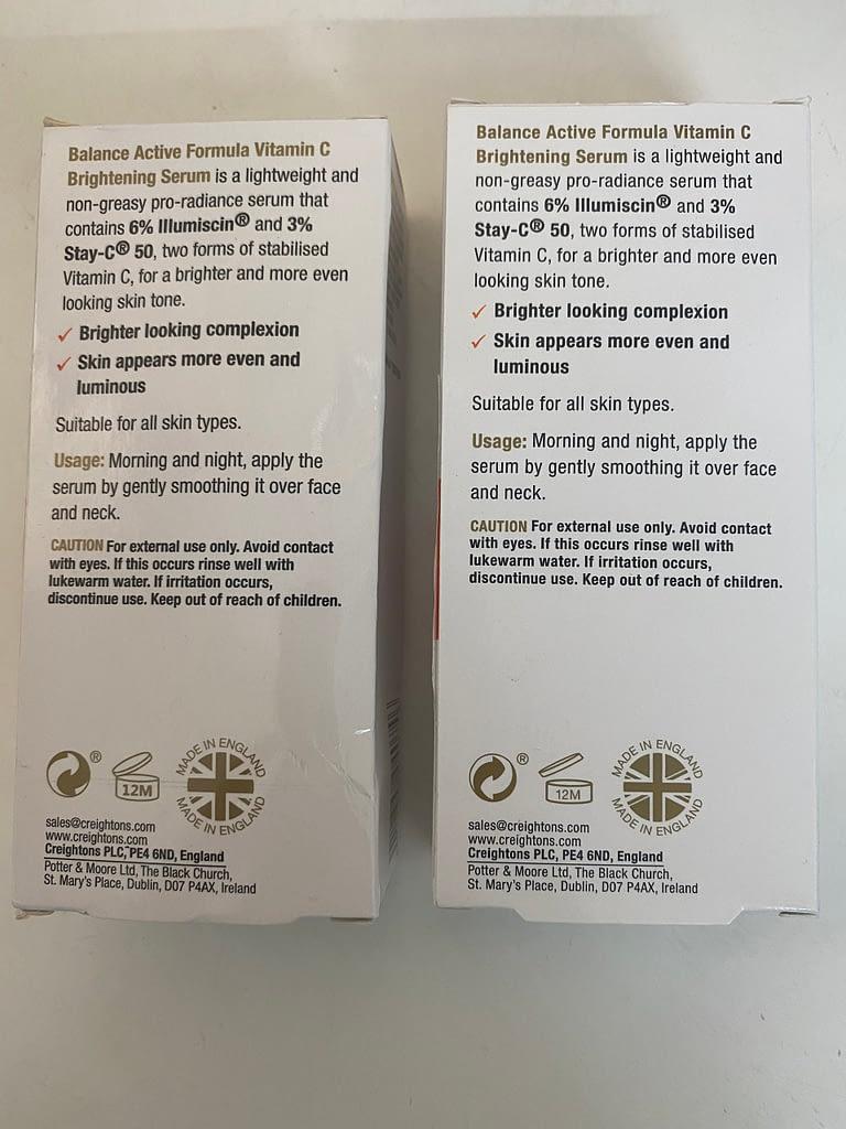 bao bì sản phẩm serum balance