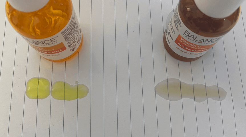 kết cấu sản phẩm Serum Vitamin C Balance
