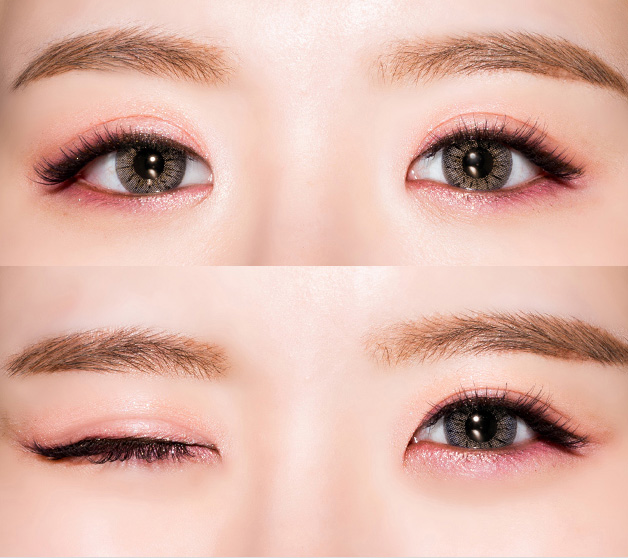 Màu mắt hồng đào