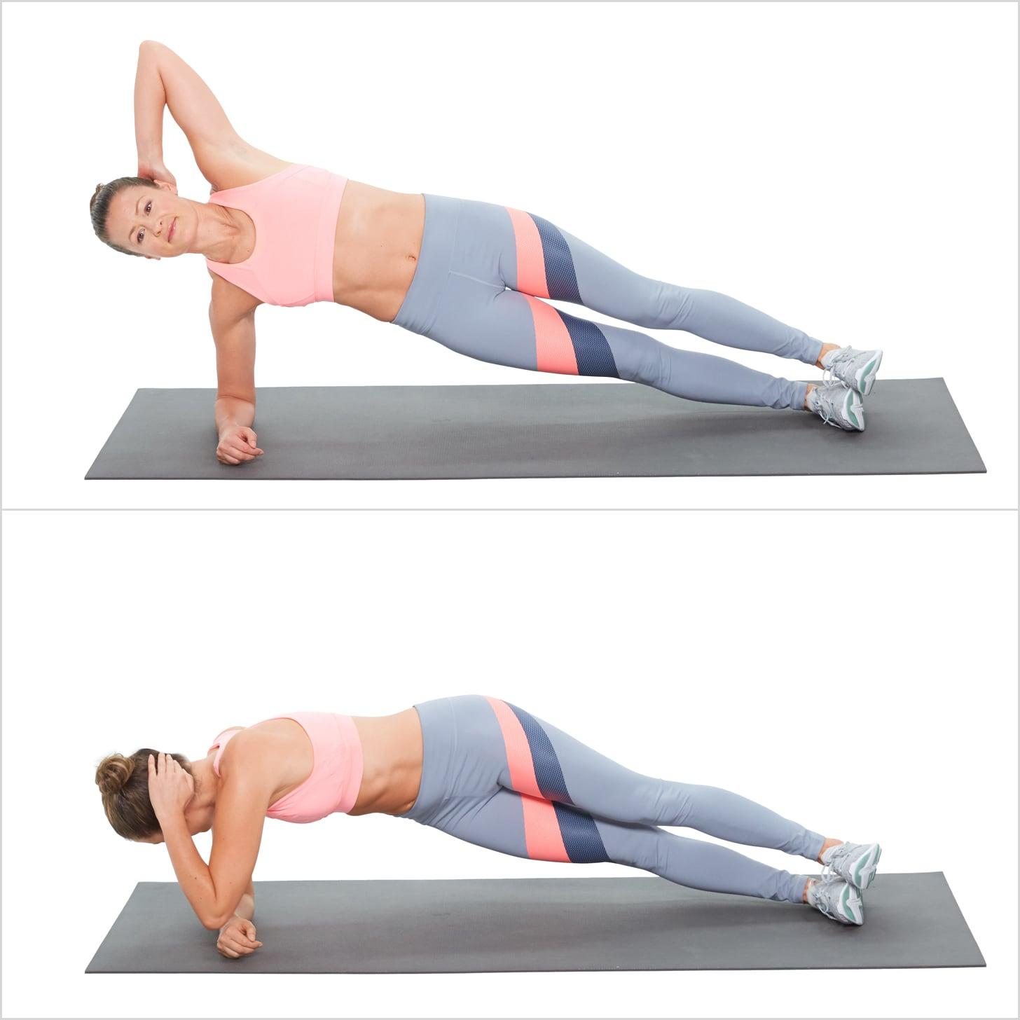 Plank nghiêng vặn người